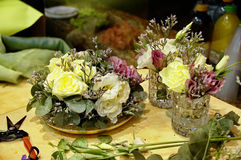 Drei Blumensträuße Lizenzfreies Stockbild