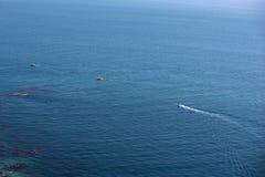 Drei Boote im Meer Lizenzfreies Stockfoto