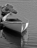 Drei Boote im Mystiker stockfotografie
