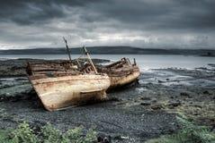 Drei Boote von Mull lizenzfreie stockfotografie