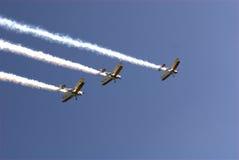 Drei Bremsungs-Flugzeuge Stockfoto