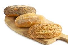 Drei Brote Lizenzfreie Stockfotos