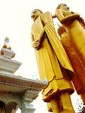 Drei Buddha-Bilder, die elegant auf stehen Lizenzfreie Stockfotografie
