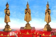 Drei Buddha-Postkarte Stockfotografie