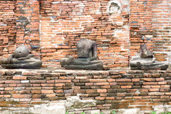 Drei Buddha Statuenruine Lizenzfreie Stockfotos
