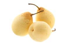 Drei chinesische Birnen Stockbild