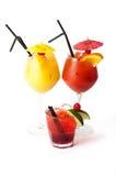 Drei Cocktails Stockfotografie