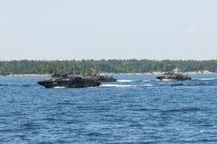 Drei Combatboat 90 Lizenzfreie Stockfotografie