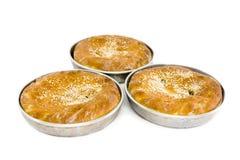 Drei der Torte vom Ofen Stockfoto