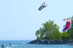 Drei Drachen-Surfer Stockfoto