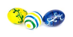 Drei Easteg Eier, getrennt Lizenzfreies Stockfoto