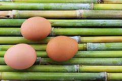 Drei Eier Stockfotos