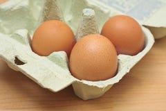 Drei Eier Stockfotografie