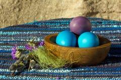 Drei Eier Stockbild
