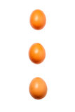 Drei Eier auf dem weißen Hintergrund Lizenzfreie Stockfotografie