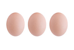 Drei Eier (getrennt) Lizenzfreie Stockbilder