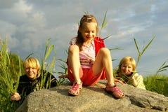 Drei einer Art Stockfoto