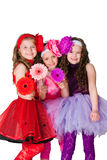 Drei elegante Mädchen Lizenzfreie Stockfotografie