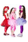 Drei elegante Mädchen Stockbild