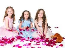 Drei elegante Mädchen Lizenzfreies Stockfoto