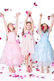 Drei elegante Mädchen Stockfotografie