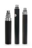 Drei elektronische Zigarettenliionenbatterien Lizenzfreie Stockfotografie