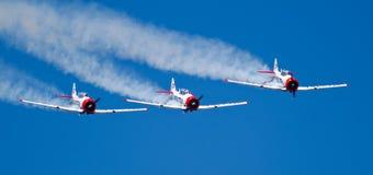 Drei Eqstra Harvards im Anordnungssturzflug Lizenzfreie Stockbilder