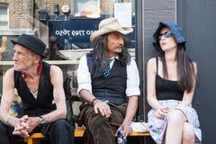 Drei Exzentriker in London Stockfotos