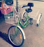 Drei fahrbare Fahrräder Lizenzfreies Stockbild