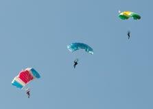 Drei Fallschirme Lizenzfreie Stockfotos