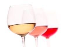 Drei Farben des Weins Lizenzfreie Stockfotos