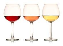 Drei Farben des Weins Stockfotos