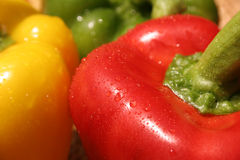 Drei Farben-Pfeffer Stockfoto