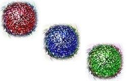 Drei Farbenkugeln Stockfotos