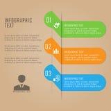 Drei farbiges Geschäft infographics Stockfoto