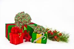 Drei Feiertags-Geschenke Lizenzfreies Stockbild