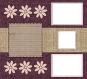Drei Felder für Fotos Stockbild
