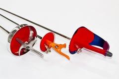 Drei fencings Lizenzfreie Stockfotos