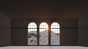 Drei Fenster Stockbild