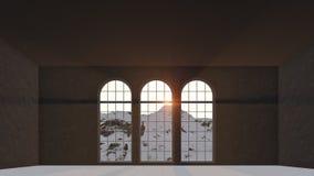 Drei Fenster lizenzfreie abbildung