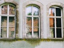 drei Fenster, Schloss stockbild