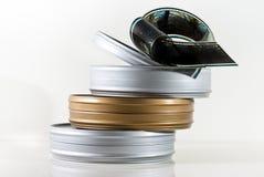 Drei Filmdosen Stockfotos