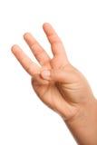 Drei Finger Stockfotografie