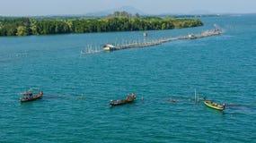 Drei Fischerboote Stockfoto