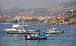 Drei Fischerboote Lizenzfreie Stockbilder