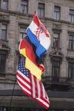 Drei Flaggen Stockfoto