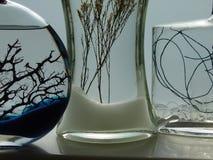 Drei Flaschen Stockfotos