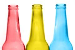 Drei Flaschen lizenzfreies stockbild