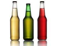 Drei Flaschen Bier lizenzfreies stockbild