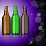 Drei Flaschen Bier erfrischung Lizenzfreie Stockfotos